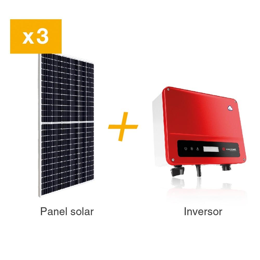 KIT FV 1,5 KW / PANEL SOLAR 450 W. INCLUYE 3 PANELES