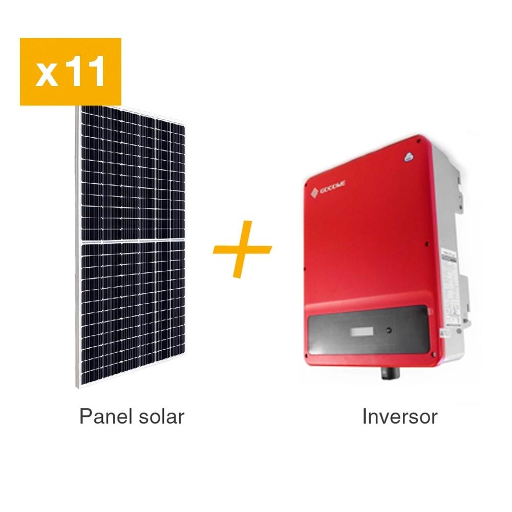 KIT FV 5 KW / PANEL SOLAR 450 W. INCLUYE 11 PANELES