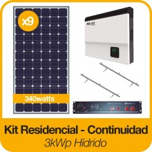 Kit 3kWp Continuidad